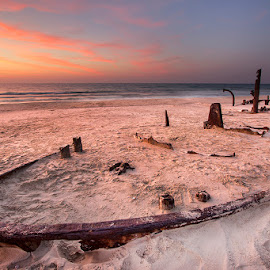 Shipwreck on the beach by Rafi Amar - Landscapes Waterscapes ( nature, shipwreck, shipwreck on the beach, beach )