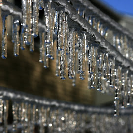 by Mark Silvani - Abstract Patterns ( refreshing, winter, melting, cold, icicles )