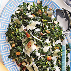 Kale Salad with Dates, Parmesan and Almonds