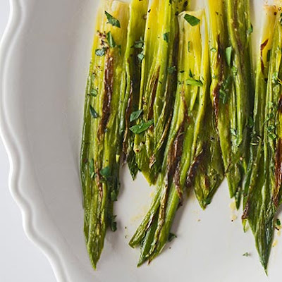 Young Leeks with Mustard-Tarragon Vinaigrette