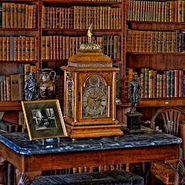 The old clock by Phil Robson - Artistic Objects Antiques ( books, time, old, clock, antique )