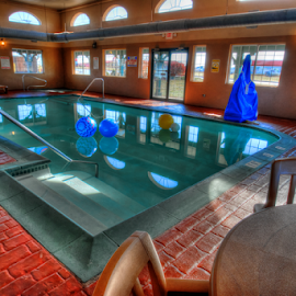 HDR Pool by D Clark  / B  Worthington - Buildings & Architecture Office Buildings & Hotels ( hdr, pool, hotel, architecture )