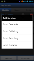 Screenshot of Easy BlackList - Call Sms -