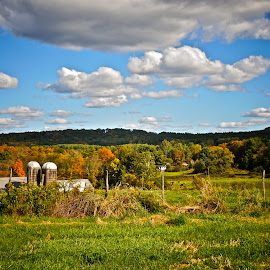 Berkshire Fall Landscape by Alexis Picheny - Landscapes Prairies, Meadows & Fields ( farm, berkshires, nature, autumn, fall, greatbarrington, landscape, massachusetts )