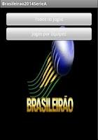 Screenshot of Calendário Brasileirão 2014 A