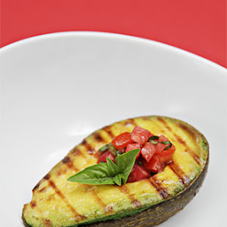 Grilled Avocado With Tomato-basil Salsa