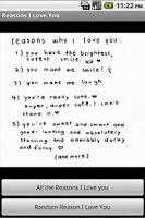 Screenshot of 365 Reasons Why I Love You