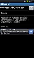 Screenshot of ICS Importer