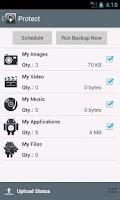 Screenshot of Managed Online Backup