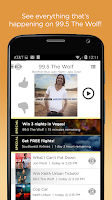 Screenshot of 99.5 The Wolf