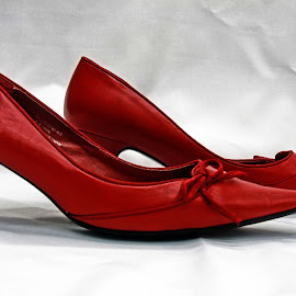 Red shoes by Michael Moore - Artistic Objects Clothing & Accessories ( shoes, red,  )