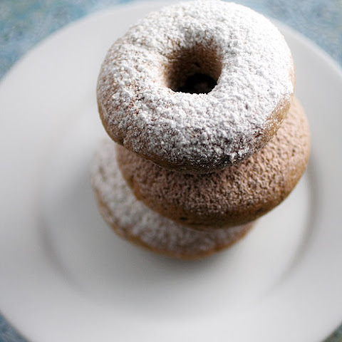 Gluten-Free Cake Donuts Recipe with Powdered Sugar or Cinnamon