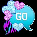 GO SMS - Hearts Candy Zebra 4 icon