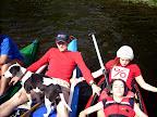 První skupina strávila většinu jízdy na lodi takto.