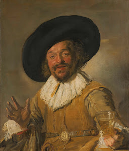 RIJKS: Frans Hals: A Militiaman Holding a Berkemeyer, Known as the 'Merry Drinker' 1630