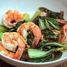 Nigel Slater's Shrimp with Asian Greens