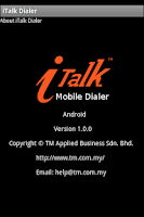 Screenshot of iTalk Mobile Dialer