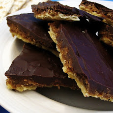 Chocolate Covered Toffee Matzo (Matzah)