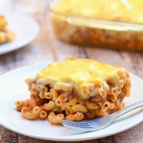Baked Macaroni with Cheese Topping