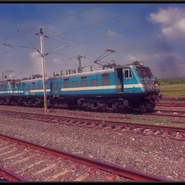 Electric Loco by Milan Kumar Das - Transportation Trains
