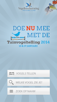 Screenshot of Tuinvogeltelling (versie 2014)