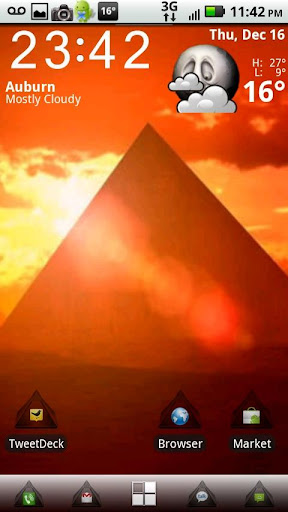 ADW Glass Pyramid Theme
