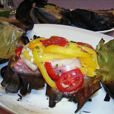 Lemon Grilled Fish in Banana Leaves