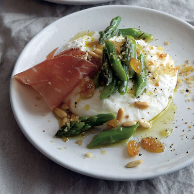Burrata with Asparagus