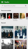 Screenshot of Xbox Music