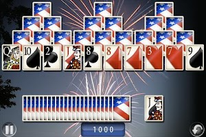 Screenshot of Solitaire Deluxe TV