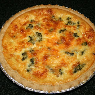 Two-Cheese Spinach And Bacon Quiche