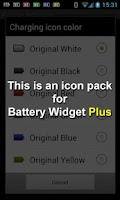 Screenshot of Battery Widget Icon Pack 3