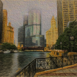 Trump tower by Dennis Granzow - Digital Art Places ( digital art, digital drawing, traditional art, travel, drawing )