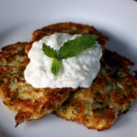 Greek Zucchini Fritters (Kolokithokeftedes) with Tzatziki