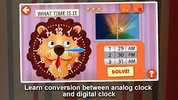 Screenshot of Interactive Telling Time HD
