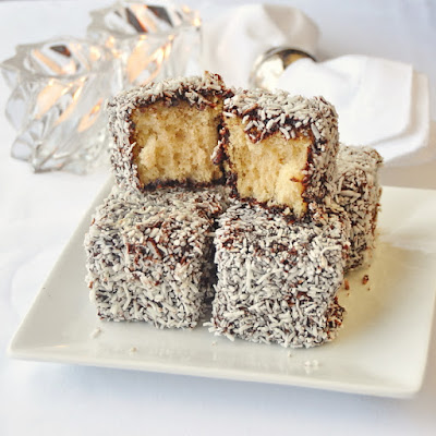 Chocolate Coconut Cake Squares a.k.a. Lamingtons!