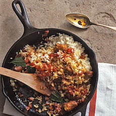 Annatto Rice With Sausage and Tomato