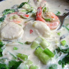 Thai Fish Fillets and Shrimp in Coconut Milk
