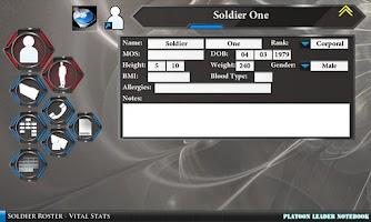 Screenshot of Platoon Leader Notebook