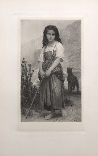 A painting by Bouguereau in the Collis P. Huntington collection exemplifies the superb black and white reproductions in <i>Art Treasures of America</i>.