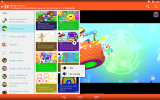 Screenshot of Songs for childs