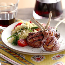 Lamb Chops with Spinach Tomato Couscous