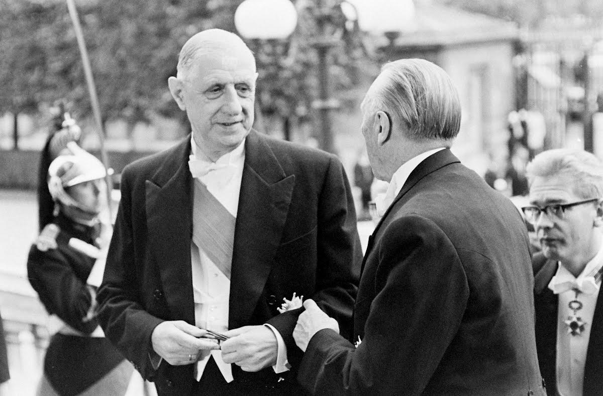 Charles de Gaulle und Konrad Adenauer, 1962.
