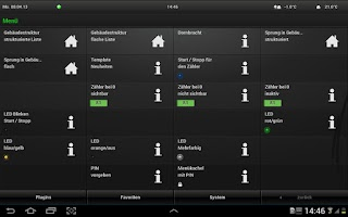 Screenshot of Gira HomeServer/FacilityServer