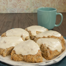 Spiced Oat Scones with Brown Butter Glaze