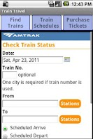 Screenshot of Train Travel