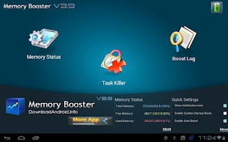 Screenshot of Memory Booster Tablet Version