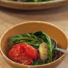Spicy Collard Greens with Tomato, Garlic, and Onions