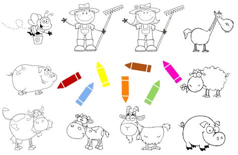 Farm pagine da colorare animali apk 0 0 2 giochi for Planimetrie personalizzate della fattoria