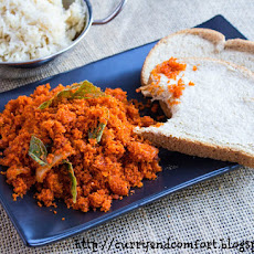 Deviled Coconut Sambol (Fried Pol Sambol)